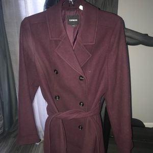 Express Regular Size L Wool Coat